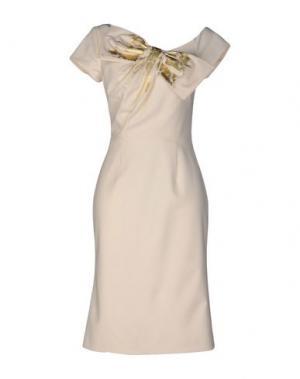 Платье до колена LUISA BECCARIA. Цвет: слоновая кость