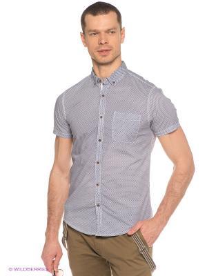 Рубашка Oodji. Цвет: синий, белый