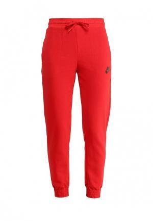 Брюки спортивные Nike. Цвет: красный