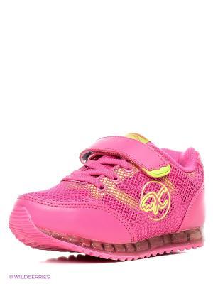 Кроссовки Kakadu. Цвет: розовый, желтый