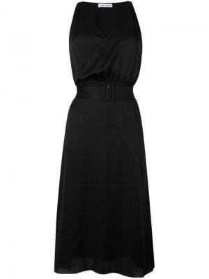 Платье c V-образным вырезом Tomas Maier. Цвет: чёрный