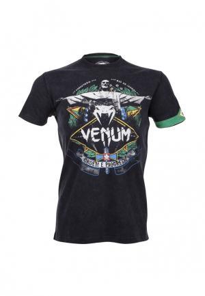 Футболка Venum. Цвет: черный