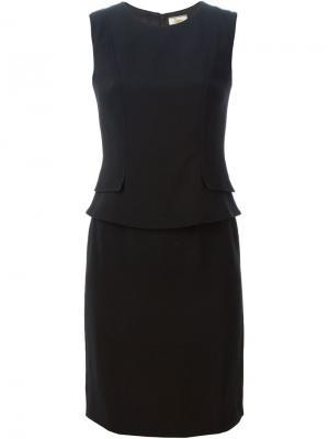 Платье с баской Issa. Цвет: чёрный