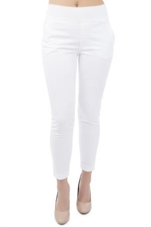 Зауженные брюки с карманами EUROPEAN CULTURE. Цвет: белый