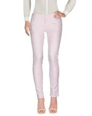 Повседневные брюки SHAFT DELUXE. Цвет: светло-розовый