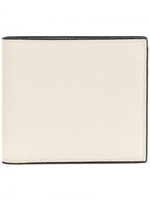 Классический бумажник Valextra. Цвет: телесный