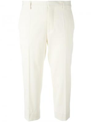 Укороченные брюки Maison Margiela. Цвет: телесный