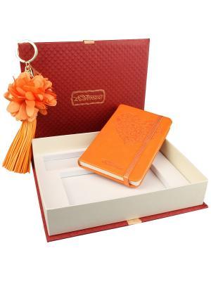 77006 Набор подарочный, Записная книжка+брелок Venuse. Цвет: оранжевый