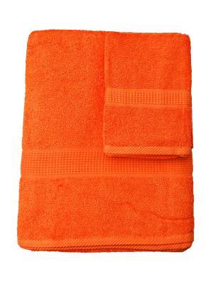Комплект полотенец Макси 2 предмета, 50х100, 100х180 La Pastel. Цвет: оранжевый