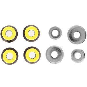 Амортизаторы для скейтборда  Бушинги Black/Yellow Юнион. Цвет: черный,желтый,серый
