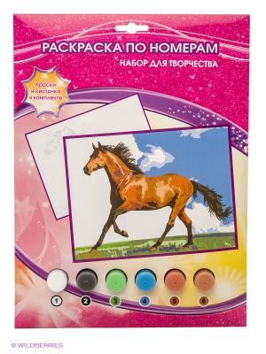 Раскраска по номерам Лошадь Играем вместе. Цвет: розовый, желтый