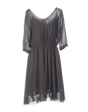 Платье до колена ATTIC AND BARN. Цвет: свинцово-серый