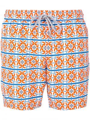 Пляжные шорты с мозаичным принтом Capricode. Цвет: многоцветный