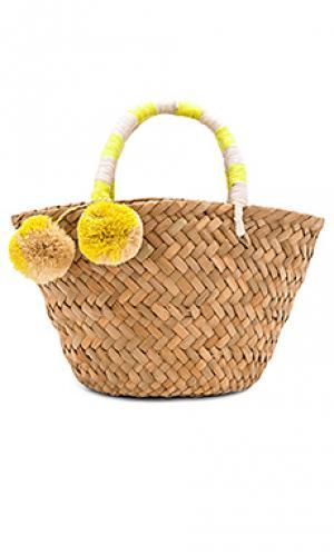 Мини сумка-тоут st. tropez KAYU. Цвет: беж