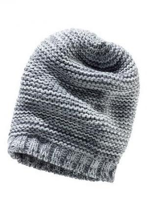 Вязаная шапка в стиле «Beenie» для детей CFL. Цвет: серый меланж