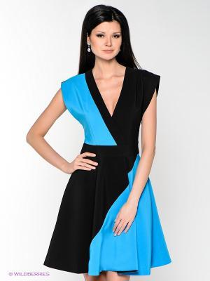 Платье MARY MEA. Цвет: черный, голубой