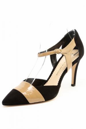 Туфли Gerardina di Maggio. Цвет: черно-бежевый