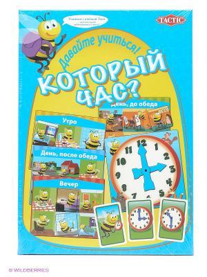Настольная игра Учим время Tactic Games. Цвет: голубой
