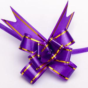 Бант подарочный УП-080 Бусики-Колечки. Цвет: фиолетовый