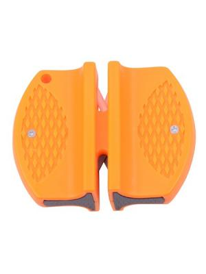 Точилка двусторонняя Бабочка (вольфрам/керамика) VIRTUS. Цвет: оранжевый