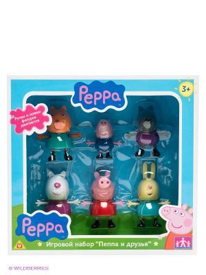 Игровой набор Пеппа и друзья, Свинка Peppa Pig. Цвет: голубой, зеленый, розовый, синий