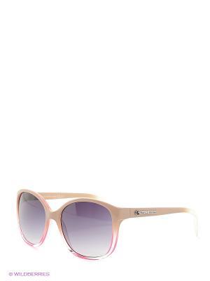 Солнцезащитные очки Franco Sordelli. Цвет: бежевый, розовый, серый