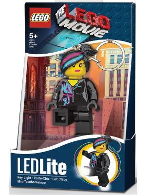 Брелок-фонарик для ключей LEGO MOVIE - Wyldstyle. Цвет: черный, бирюзовый, фуксия, желтый