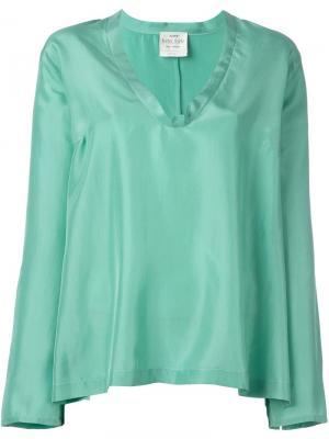 Расклешенная блузка Forte. Цвет: синий