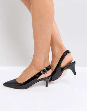 Faith Черные туфли с каблуком-рюмочкой. Цвет: черный