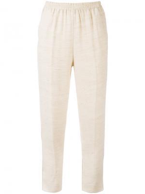 Классические укороченные брюки Forte. Цвет: телесный
