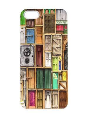 Чехол для iPhone 5/5s Двери Арт. IP5-043 Chocopony. Цвет: белый, синий, зеленый, серый, коричневый