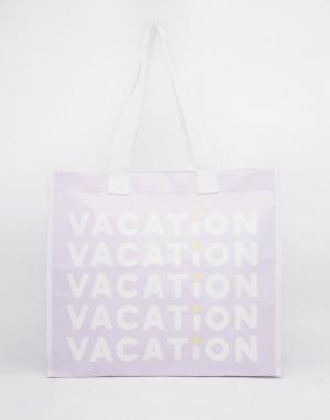 BAN DO Сумка-шоппер Ban.Do Vacation I Want It All. Цвет: мульти