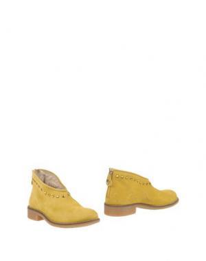 Полусапоги и высокие ботинки TWIN-SET Simona Barbieri. Цвет: охра