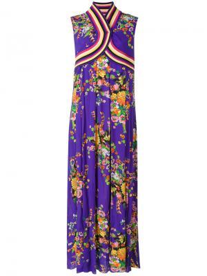 Платье-кимоно с цветочным принтом IM Isola Marras I'M. Цвет: розовый и фиолетовый