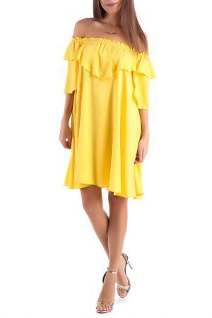Платье Magnet. Цвет: желтый