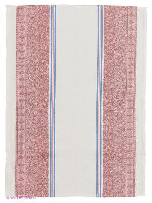 Полотенце лен Метиз. Цвет: розовый, белый