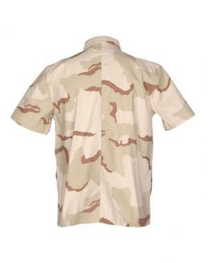 Pубашка UNDEFEATED. Цвет: бежевый
