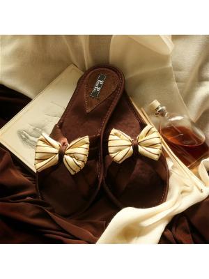 Домашняя обувь Petit Pas. Цвет: темно-коричневый, бежевый