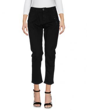 Джинсовые брюки MARIUCCIA. Цвет: черный