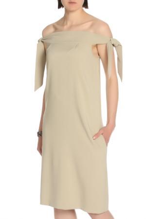 Платье SARTORI DODICI. Цвет: хаки