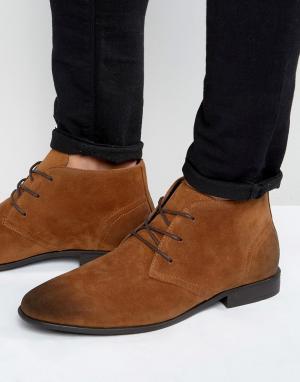ASOS Светло-коричневые ботинки чукка из искусственной замши. Цвет: рыжий
