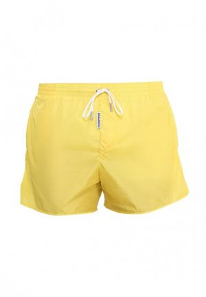 Шорты для плавания Dsquared Underwear. Цвет: желтый