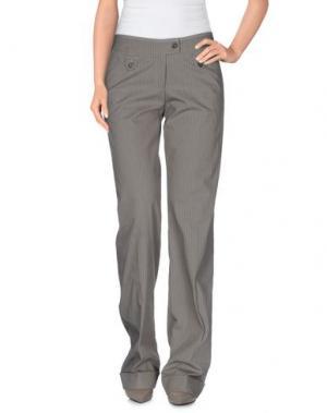 Повседневные брюки EMISPHERE. Цвет: голубиный серый