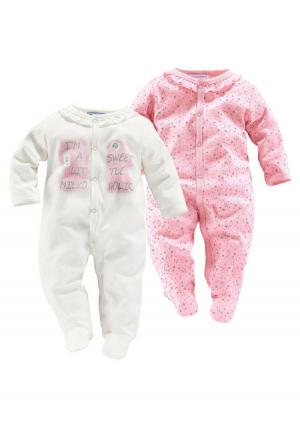 Пижама, 2 штуки KLITZEKLEIN. Цвет: телесный/розовый