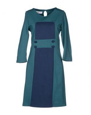 Короткое платье KAOS. Цвет: цвет морской волны