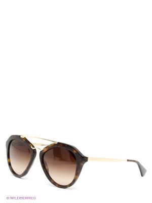 Очки солнцезащитные PRADA. Цвет: коричневый, золотистый
