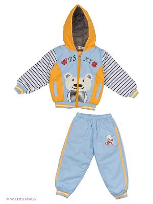 Комплект Happy Bear. Цвет: голубой, оранжевый