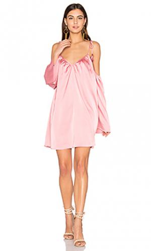 Мини платье rampling Line & Dot. Цвет: розовый