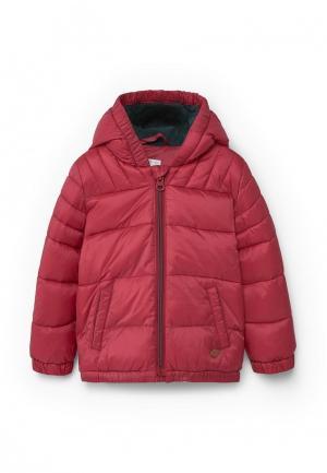 Куртка утепленная Mango Kids. Цвет: красный
