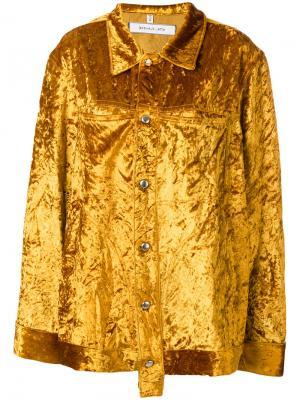 High shine jacket Eckhaus Latta. Цвет: жёлтый и оранжевый